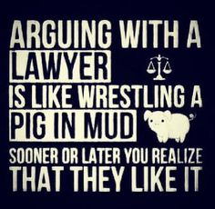 Arguing with a lawyer